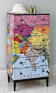 maps ... could be painted onto furniture  ... cool!