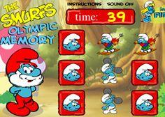 LosPitufos.net - Juego: Pitufos Memoria Olímpica - Jugar Gratis Online