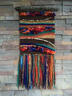 Ideas Wall Tapestry Woven Fiber Art For 2019 Weaving Textiles, Weaving Art, Tapestry Weaving, Loom Weaving, Wall Tapestry, Hand Weaving, Weaving Wall Hanging, Wall Hangings, Peg Loom
