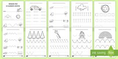 An extremely useful resource, perfect for enhacing those fine motor skills. This can be used in the classroom or sent home for practise! Activity Sheets, Early Education, Fine Motor Skills, Print And Cut, Google Drive, Worksheets, Activities, Learning, Shape