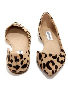 Steve Madden Elusion Leopard Pony Fur D'Orsay Flats - StudentRate