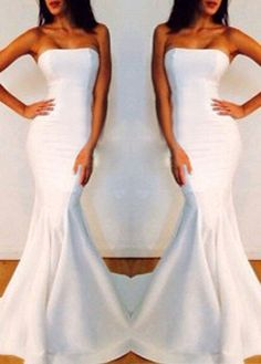 Beautiful Off Shoulder Mermaid Dress In White and Black