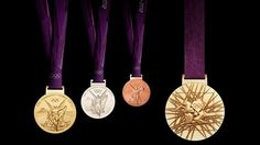 London 2012 Olympic medal design {Always nice to see them up close! They don't show them that well on tv.}