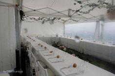 L'espace des parents sous deux chapiteaux a une décoration plus romantique. Quelques ballons de tulle font la liaison entre les deux espaces. Des cloches de verre anciennes abritent des fleurs ici et là. Un parterre de mousse de différentes formes et de fleurs fait office de centre de table. http://mycdeco.blogspot.fr/ http://www.cdecoandco.com/