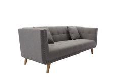 戴克雙人銅釘沙發 網路售價: $10900 / 日租: $2180