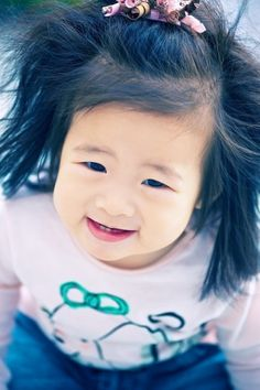 that hair! #cute asian baby
