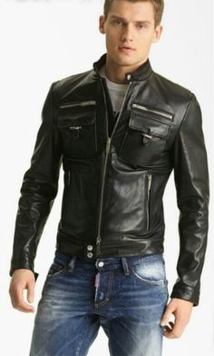 Disquared Leather Jacket