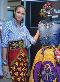 agirlsworldspinning: divalocity: The designer Stella Jean. When in doubt wear Stella Jean! Love the cultural mix Black Girls Killing It African Inspired Fashion, African Print Fashion, Ethnic Fashion, Fashion Prints, Ankara Fashion, Luxury Fashion, Stella Jean, African Attire, African Wear