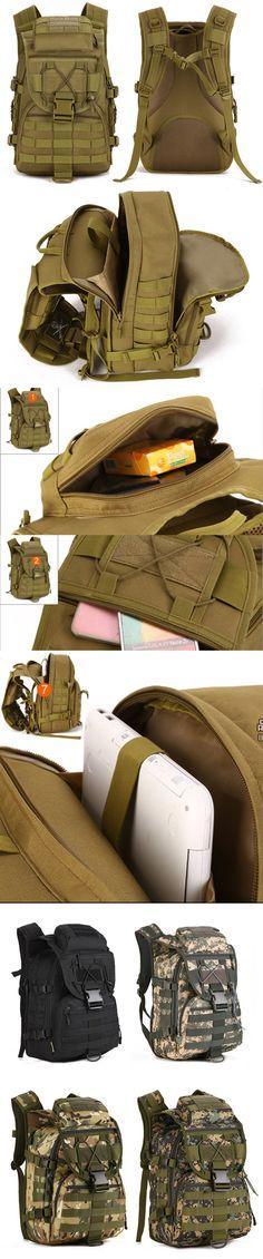 US$43.47#Men Large Capacity Camping Multipurpose Backpack