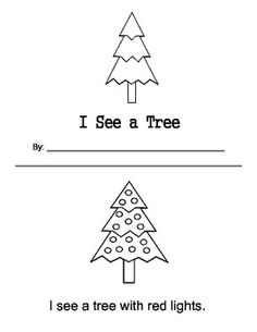 $ I See a Tree- Colors Printable Book. Fun way to practice sight words.
