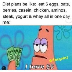 Can't even afford a diet!