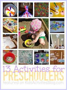 13 {Fun} Activities for Preschoolers by Holly at Kids Activities Blog - DIY light box & colored popcorn