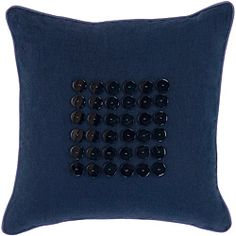 @Overstock - Add a touch of India into your decorating scheme with this 18' x 18' blue decorative pillow that features a navy cotton cover with indigo buttons for extra pizazz. The soft down filling is sure to please even the most expert loungers in your household.http://www.overstock.com/Home-Garden/Sydney-Navy-Indigo-Button-Decorative-Pillow/6417138/product.html?CID=214117 $36.49