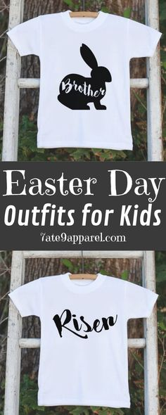 cc02a682d2 Boys Easter Outfit - Brother Bunny Onepiece or Tshirt - Kids Easter Bunny  Outfit - Sibling Easter Outfits - Boys Baby Toddler Youth Shirt