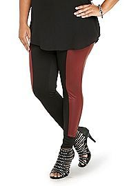 Plus-Size Color Block Leggings, Size XL - 5X | ElegantPlus.com Editor's Pick