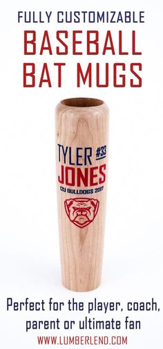 The Perfect Senior Gift For The Baseball Player Has Arrived Our Fully Customizable Baseball Bat Mugs Are Sure To Be A Hit For The Baseball Lover In Your