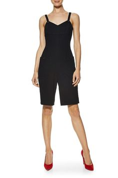 What Goes Around Comes Around Black Wool Romper - Chanel