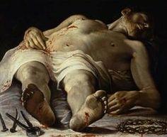 Annibale Carracci - Corpse Of Christ (Salma Di Cristo), Baroque Painting, Baroque Art, Italian Baroque, Caravaggio, Andrea Mantegna, Annibale Carracci, Holy Saturday, Italian Artist, Renaissance Art