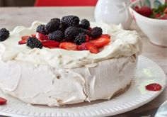 Sharon's 7 egg Pavlova - Radio Live | Recipes For Food Lovers Including Cooking Tips At Foodlovers.co.nz