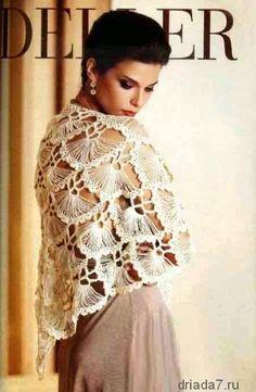 かぎ針編みの天使:ほうきの柄でジャージやレースのショール