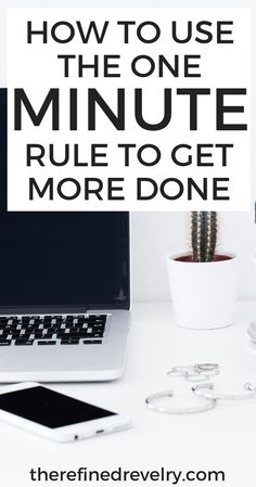 I'm ALWAYS looking for ways to be more productive. The One Minute Rule is one of the BEST ways I know to actually stop procrastinating and get more done! Self Development, Personal Development, Bujo, Improve Productivity, Planning And Organizing, Cool Science Experiments, How To Stop Procrastinating, Self Discipline, Time Management Tips