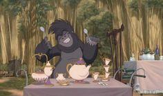 Screencap Gallery for Tarzan Bluray, Disney Classics). The movie is about the life of Tarzan. Tarzan was a small orphan who was raised by an ape named Kala since he was a child. Walt Disney, Disney Films, Hidden Disney Characters, Disney Movie Trivia, Disney Movies To Watch, Disney And Dreamworks, Disney Love, Disney Magic, Disney Pixar