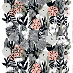 """Contemporary floral print Kasvu (growth) is one of the new prints in our this spring's home collection. It is designed by Maija Louekari in 2014. //…"""
