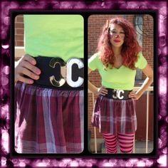 Cute Clown Halloween Tutorial (hair, outfit, nails) BondBeautYful