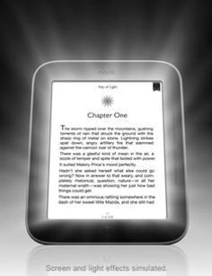 NOOK Simple Touch™ with GlowLight™   Breakthrough technology creates a soft glow optimized for low light reading