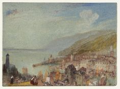 Honfleur, Normandy  1832 JMW Turner painted several views of Honfleur in exquisite water colours  which can now be seen at the Tate Gallery in London. See the rest here: http://www.tate.org.uk/art/search?q=honfleur Read more at http://www.normandythenandnow.com/with-jmw-turner-in-honfleur/