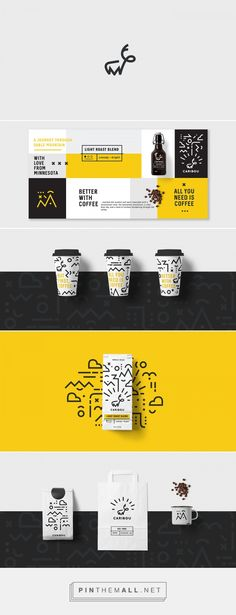 Caribou Coffee Branding by Ashbel Ong | Fivestar Branding Agency – Design and Branding Agency & Curated Inspiration Gallery #branding #brand #packagingdesign #packaging #coffeebranding #coffeepackaging