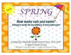 Free! How Manu Can you name....30 category cards for vocabulary and oral expression