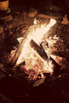 campfire in NJ in mid march :)