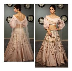 #KALKIxTanyaGhavri #InstaUnveil The color palette is truly modern in flavour, inspired from the pink family, the ensemble make you wonder about the colour that is embraced as the symbol of innocence and classicality. The Powder pink raw silk lehenga is e
