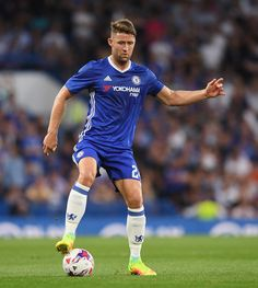 Gary Cahill of Chelsea in action during the EFL Cup second round match between…