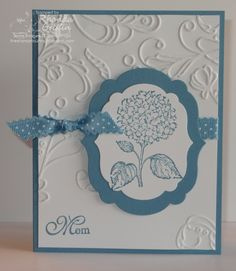 The Stampin' Bunny...uses Stampin' Up! Best of Flower stamp set and elegant lines embossing folder