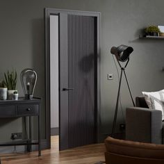 In a cool and trendy Ash Grey finish, the Melbourne will become a striking asset to your home. Perfect for modern interior, the deep and distinctive grooves create a textured look and feel will really stand out in the room! Modern Entrance Door, Modern Wooden Doors, Modern Door, Interior Door Styles, Door Design Interior, Modern Interior Design, Modern Interior Doors, Bedroom Door Design, Home Room Design