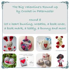 The Big Valentine's Round-Up By Crochet in Paternoster. Some Of These You Have Seen But Some May Be New To You! https://crochetinpaternoster.wordpress.com/tag/free-crochet-pattern/