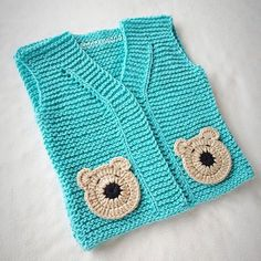Crochet Dress Baby Teddy Bears 48 Ideas For 2019 Baby Cardigan, Baby Pullover, Baby Vest, Arm Knitting, Knitting For Kids, Knitting Patterns, Crochet Patterns, Crochet Gifts, Crochet Baby