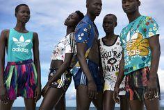 """Adidas Originals + Pharrell Williams = """"Pink Beach"""". Nova coleção chega ao Brasil no dia 15 de junho."""