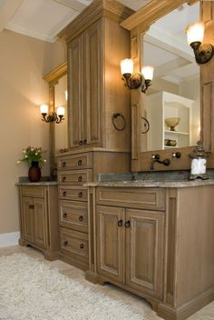 Bathroom Cabinets for Everyone:Mocca Brown Wood Bathroom Cabinets–olden Bathroom Cabinets Design Ideas