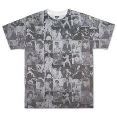 ELVIS PRESLEY MUGSHOT Women/'s Junior Black Back Sublimation Tee Shirt SM-2XL