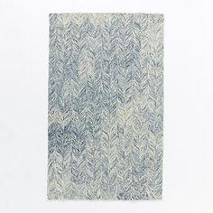 $319 5x8 Vines Wool Rug - Blue Lagoon #westelm