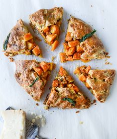 Parmesan Crusted Butternut Galette | 17 Insanely Delicious Ways To Cook Butternut Squash This Fall