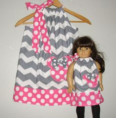 Minnie Mouse dress Gray chevron  pillowcase ALL by minnieschild