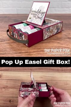 Treat Holder, Treat Box, Gift Boxes, Card Boxes, Craft Tutorials, Bag Tutorials, Stampin Up Cards, 3d Cards, Easel