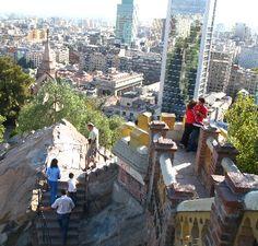 Vista panorámica desde el Cerro Santa Lucía de Santiago.