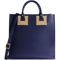 Sophie Hulme Medium Leather Bag ($1,085) ❤ liked on Polyvore