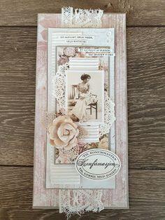 min lille scrappe-verden: Konfirmantkort jente Card Ideas, Scrapbooking, Frame, Vintage, Decor, Cards, Creative, Picture Frame, Decoration