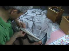 I sew the Japanese kimono和裁、女物袷の着物の縫い方、衽縫いのとじ2 - YouTube